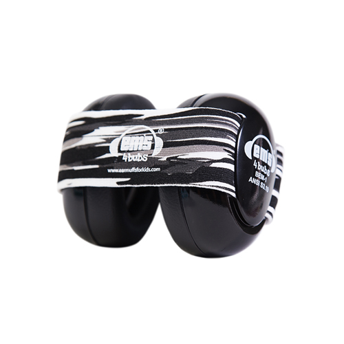 Black Ems for Bubs Baby Earmuffs - Black Oyster Pearl